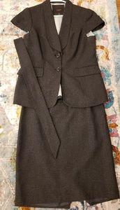 Dark grey short sleeve suit